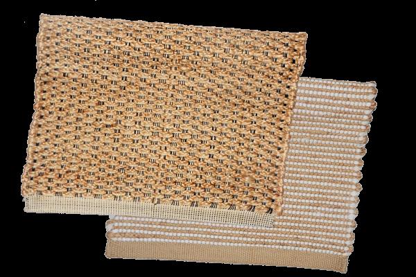 Teppiche aus Jute und Baumwollmischung