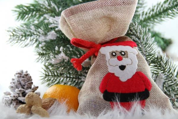 Weihnachten Jutesäckchen